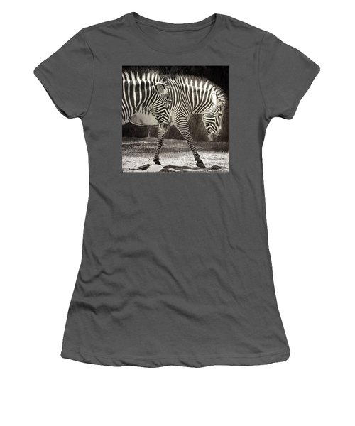 Zebra Women's T-Shirt (Athletic Fit)
