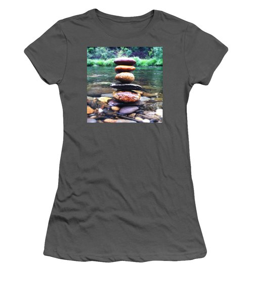 Zen Stones II Women's T-Shirt (Athletic Fit)