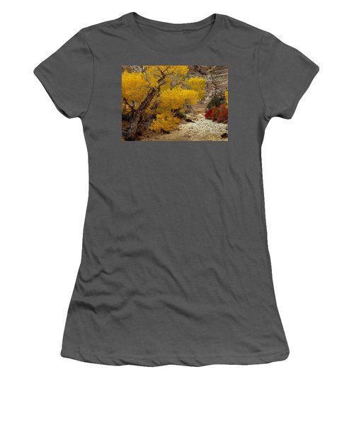 Zion National Park Autumn Women's T-Shirt (Athletic Fit)
