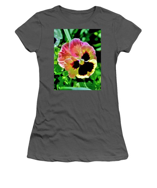 Pink And Yellow Pansy Women's T-Shirt (Athletic Fit)