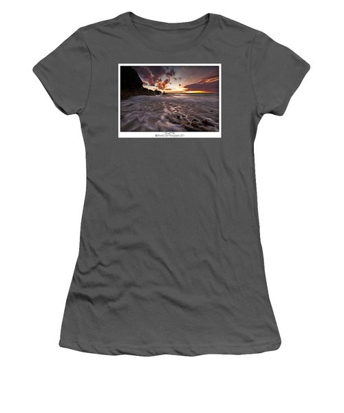 Sunset Tides - Porth Swtan Women's T-Shirt (Athletic Fit)