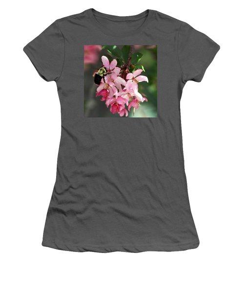 Women's T-Shirt (Junior Cut) featuring the photograph Buzzing Beauty by Elizabeth Winter