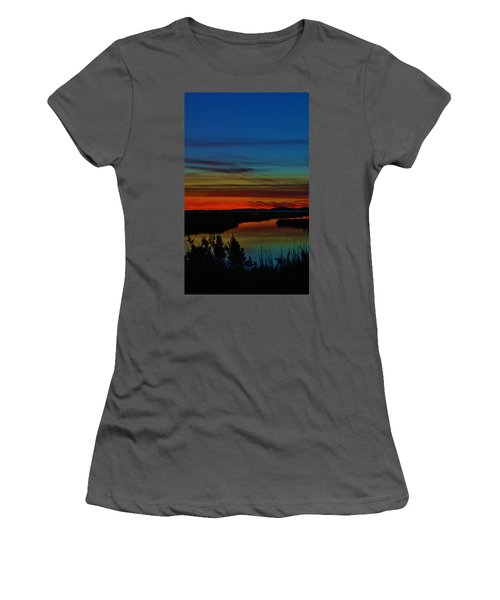 Deep Marshland Sunset Women's T-Shirt (Athletic Fit)
