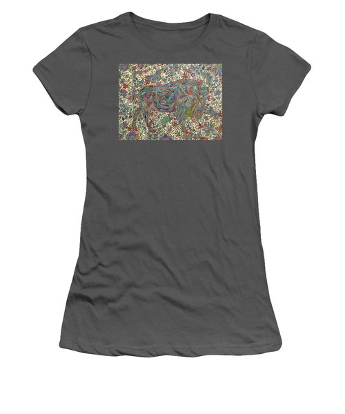 Where The Butterflies Roam  Women's T-Shirt (Athletic Fit)