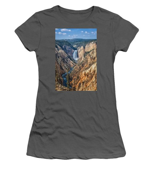 Yellowstone Lower Falls Women's T-Shirt (Athletic Fit)
