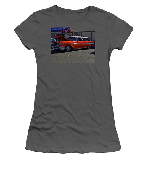 Women's T-Shirt (Junior Cut) featuring the photograph 1957 Belair Wagon by Tikvah's Hope