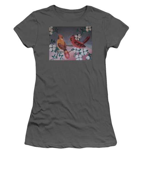 2 Birds Women's T-Shirt (Junior Cut) by Christy Saunders Church