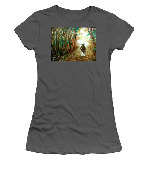 A Fall Walk In The Woods Women's T-Shirt (Athletic Fit)