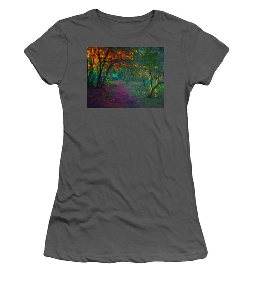 Women's T-Shirt (Junior Cut) featuring the painting A Place Of Mystery by Joe Misrasi
