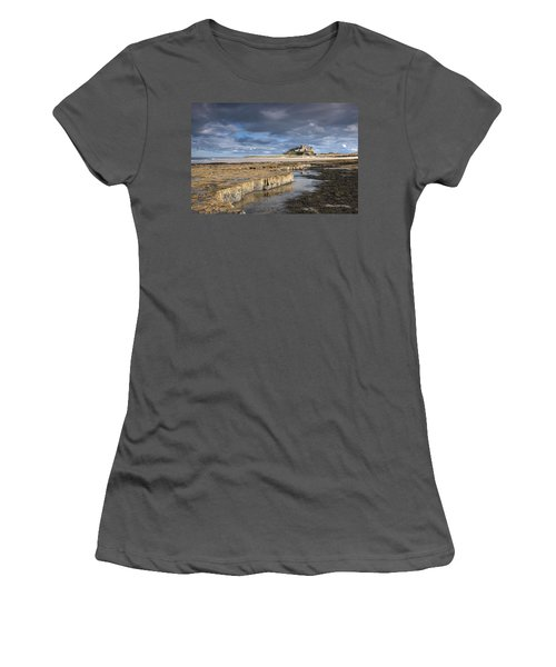 A View Of Bamburgh Castle Bamburgh Women's T-Shirt (Athletic Fit)