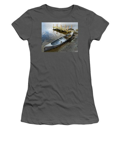 Women's T-Shirt (Junior Cut) featuring the photograph Abandoned Canoe by Lynn Bolt