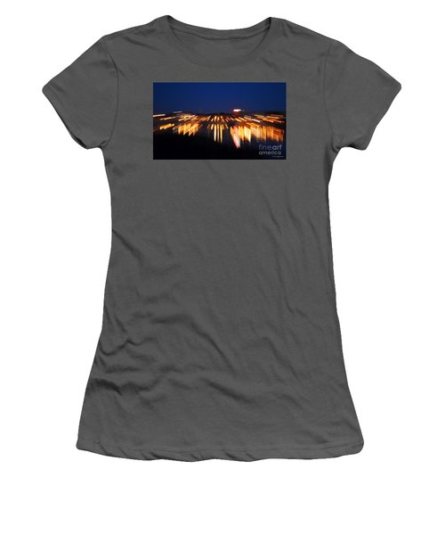 Abstract - City Lights Women's T-Shirt (Junior Cut) by Sue Stefanowicz