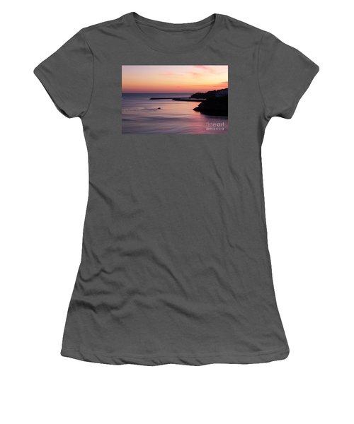 Women's T-Shirt (Junior Cut) featuring the photograph Albuferian Sunset by Lynn Bolt