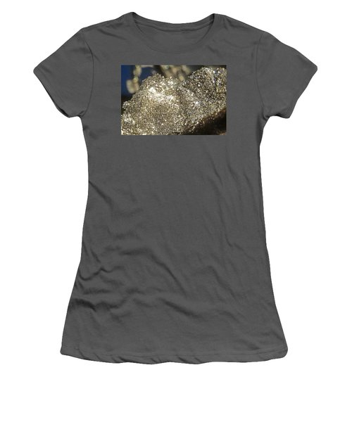 Women's T-Shirt (Junior Cut) featuring the photograph All That Glitters Is Definitely Cold by Steve Taylor