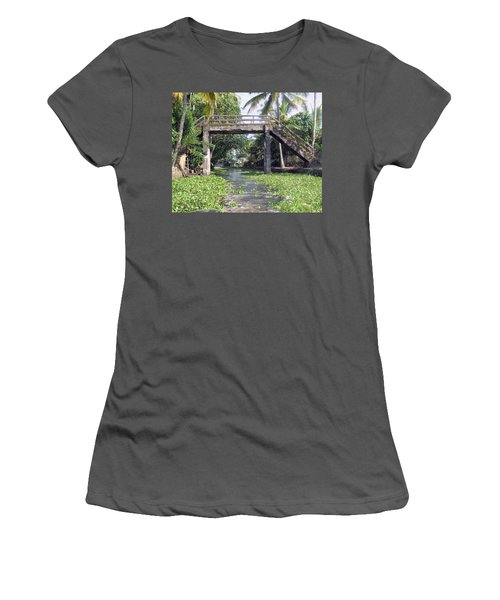 An Old Stone Bridge Over A Canal In Alleppey Women's T-Shirt (Junior Cut)