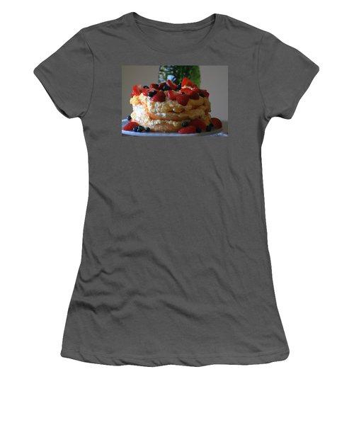 Women's T-Shirt (Junior Cut) featuring the photograph Angel Food by Kay Novy