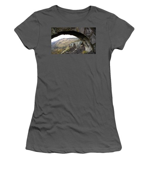 Women's T-Shirt (Junior Cut) featuring the photograph Arches And Mountains by Steve McKinzie