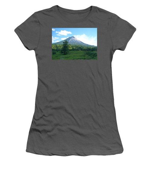 Women's T-Shirt (Junior Cut) featuring the photograph Arenal by Eric Tressler
