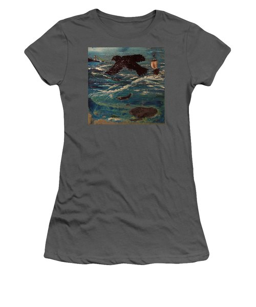 As The Crow Flys Women's T-Shirt (Athletic Fit)