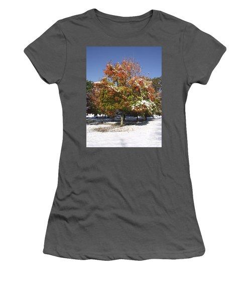 Autumn Snow Women's T-Shirt (Athletic Fit)