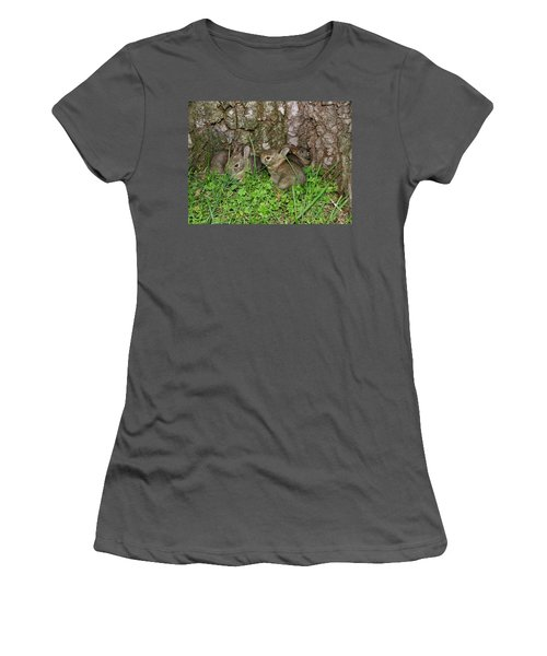 Baby Rabbits Women's T-Shirt (Athletic Fit)