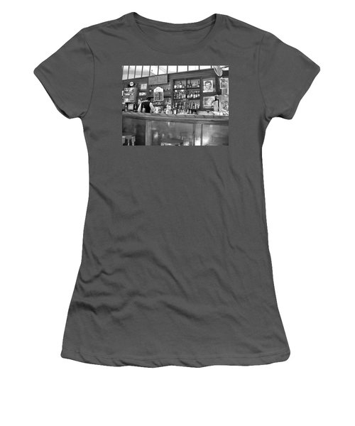 Women's T-Shirt (Junior Cut) featuring the photograph Bar In Old Havana by Lynn Bolt