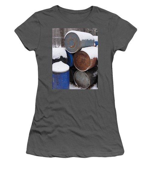 Women's T-Shirt (Junior Cut) featuring the photograph Barrel Of Food by Tiffany Erdman