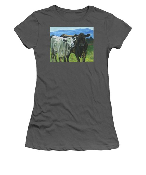 Best Friends Ivory And Ebony Women's T-Shirt (Athletic Fit)