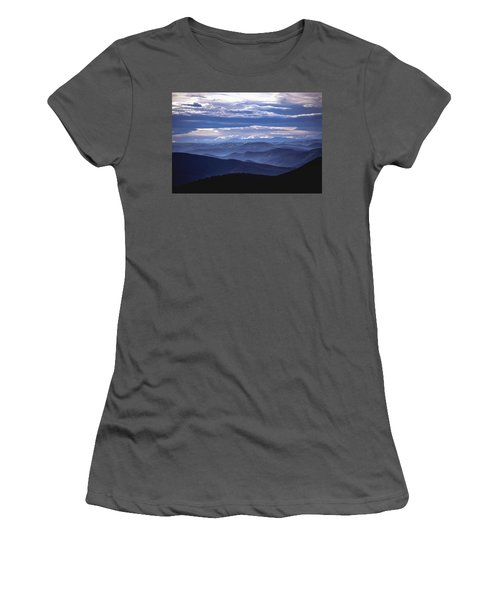 Blue Women's T-Shirt (Athletic Fit)