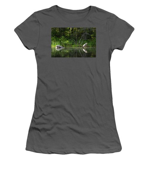 Blue Heron Long Pond Wmnf Women's T-Shirt (Athletic Fit)