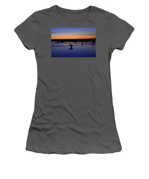Blue Sunset Mangroves Women's T-Shirt (Athletic Fit)