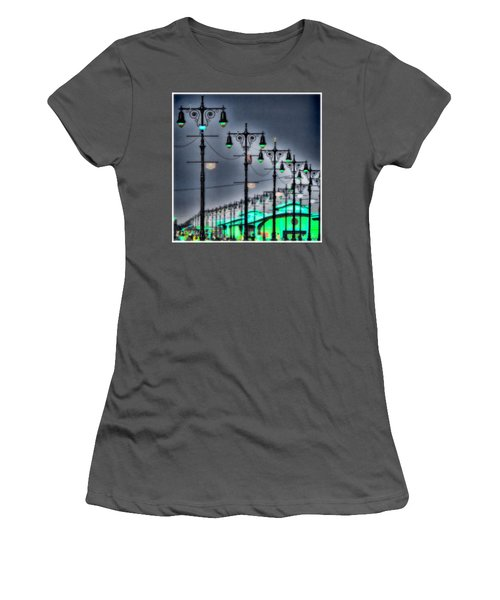 Women's T-Shirt (Junior Cut) featuring the photograph Boardwalk Lights by Chris Lord