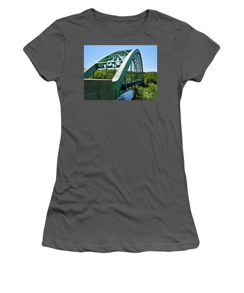 Women's T-Shirt (Junior Cut) featuring the photograph Bridge Spanning Connecticut River by Sherman Perry