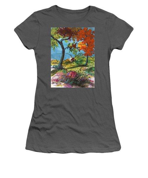 Catching Sundown Women's T-Shirt (Junior Cut) by John Williams
