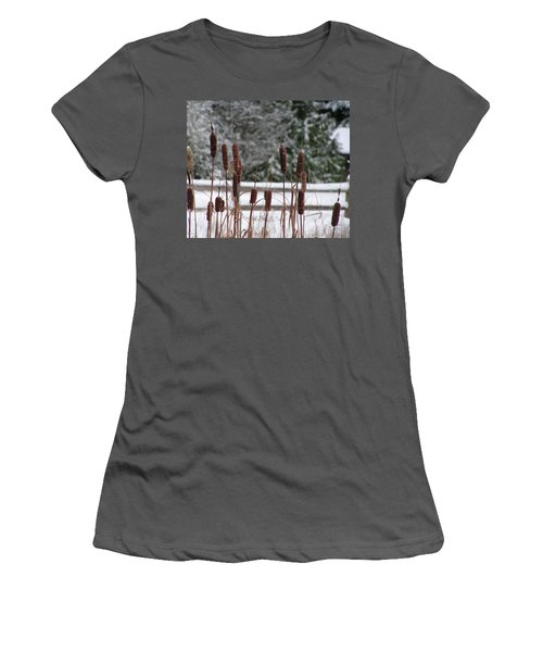 Cattails In Winter Women's T-Shirt (Athletic Fit)