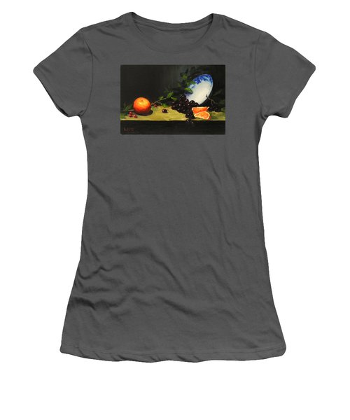 China Bowl And Fruits Women's T-Shirt (Athletic Fit)