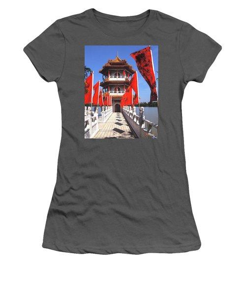 Chinese Gardens  North Pagoda 19c Women's T-Shirt (Junior Cut) by Gerry Gantt