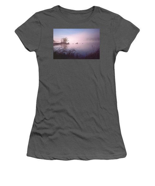 Chippewa River At Dawn Women's T-Shirt (Athletic Fit)