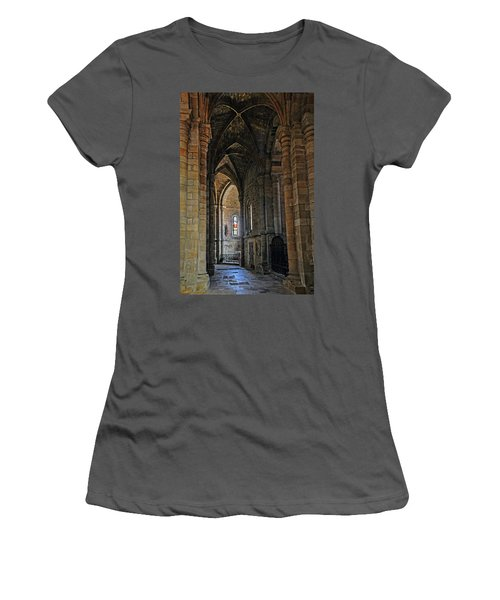 Women's T-Shirt (Junior Cut) featuring the photograph Church Passageway Provence France by Dave Mills