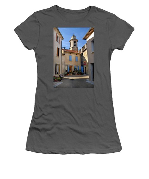 Women's T-Shirt (Junior Cut) featuring the photograph Church Steeple In Provence by Dave Mills