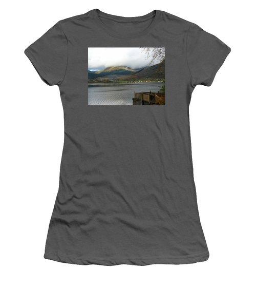 Women's T-Shirt (Junior Cut) featuring the photograph Cloud Over Beinn An Lochain by Lynn Bolt