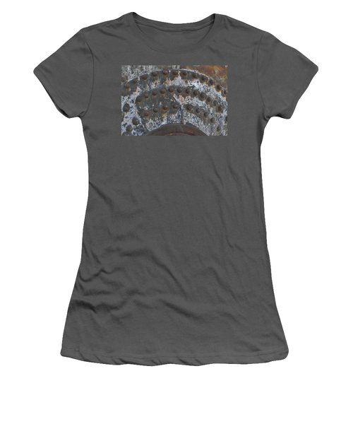 Women's T-Shirt (Junior Cut) featuring the photograph Color Of Steel 7a by Fran Riley
