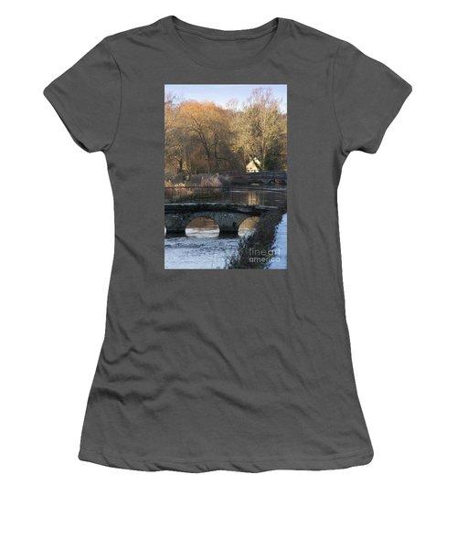 Cotswold River Scene Women's T-Shirt (Athletic Fit)