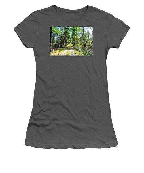 Women's T-Shirt (Junior Cut) featuring the photograph Country Path by Shannon Harrington
