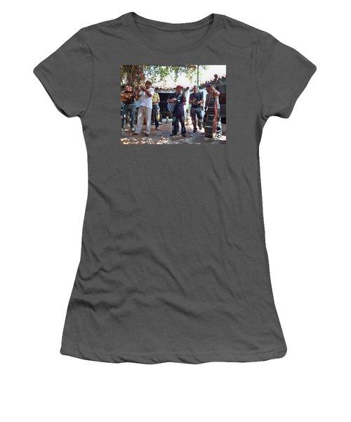 Women's T-Shirt (Junior Cut) featuring the photograph Cuban Musicians by Lynn Bolt