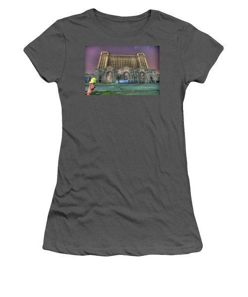 Detroit's Michigan Central Station - Michigan Central Depot Women's T-Shirt (Athletic Fit)