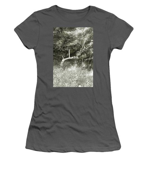 Women's T-Shirt (Junior Cut) featuring the photograph Dragon Bones by Mary Almond