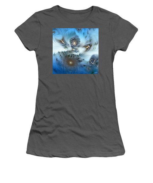 Women's T-Shirt (Junior Cut) featuring the digital art Dream Journey by Casey Kotas