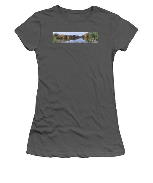 Women's T-Shirt (Junior Cut) featuring the photograph Durand Lake by William Norton