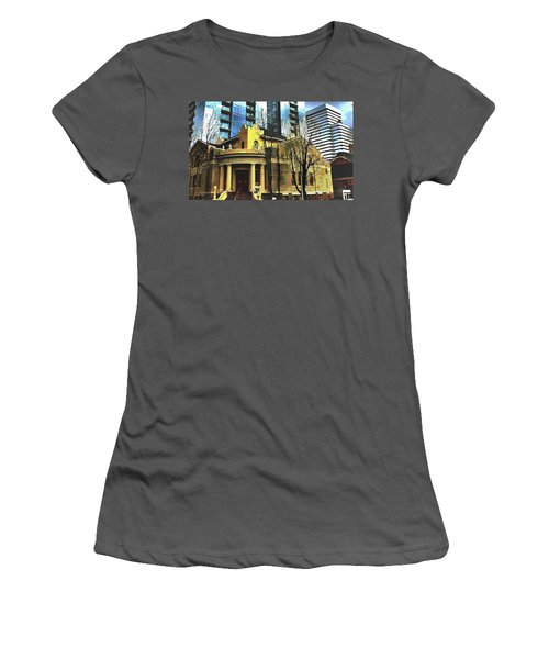 Women's T-Shirt (Junior Cut) featuring the mixed media Encroached by Terence Morrissey
